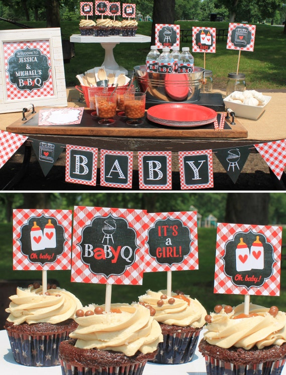 Red Baby Q Decorations Baby Shower Bbq Party Decorations Bbq
