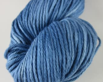 100g Indigo Blue Natural Plant Dyed DK Cotton Yarn