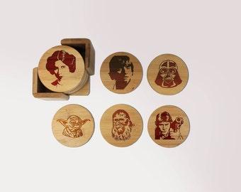 Emoji Untersetzer Rund Oder Eckig Coaster Set Graviert