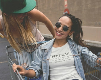Feminism Definition T-shirt, Funny Feminist Shirt Womens Graphic tee, Feminism Fashion Gift for her, Funny Sweater, Feminist tshirts