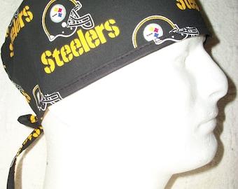Pittsburgh Steelers Black Medical Scrub Hat