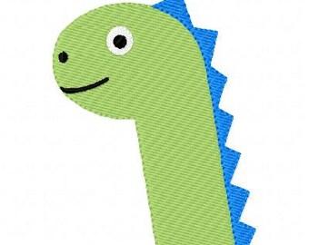 Embroidery Design, Dinosaur Dino Head  Single // Joyful Stitches