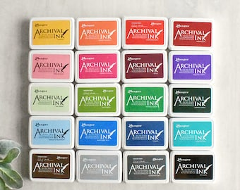 Ranger Archival Ink Pad - 20 COLOUR OPTIONS - Dye Ink Pad - Craft Ink - Stamp Pad - Rubber Stamping - Black Ink Pad