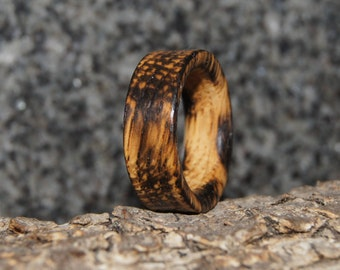 Oak Ring - Any size - Oak Wood Ring, burned
