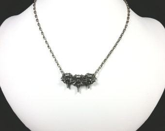 Triple Snake Vertebrae necklace