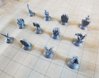 Dungeons & Dragons class figures set