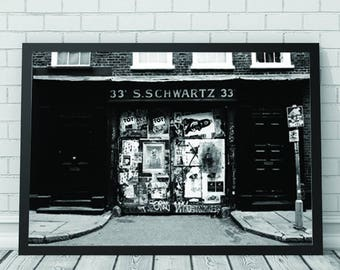 Grraffiti Shop Art Print, Graffiti, Shopfront, Architecture, Architecture Prints, Printable Digital Download, Photography