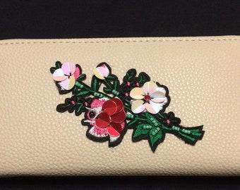 Floral Applique Wallet