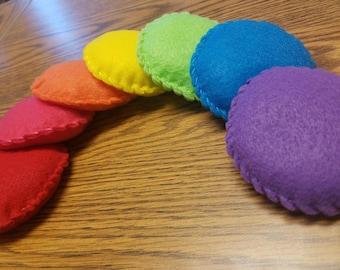 Rainbow Bean Bags - Set of 7 *FREE SHIPPING*