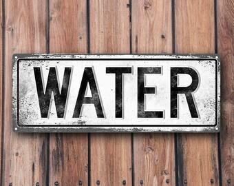 WATER Metal Street Sign, Vintage, Retro    MEM2029