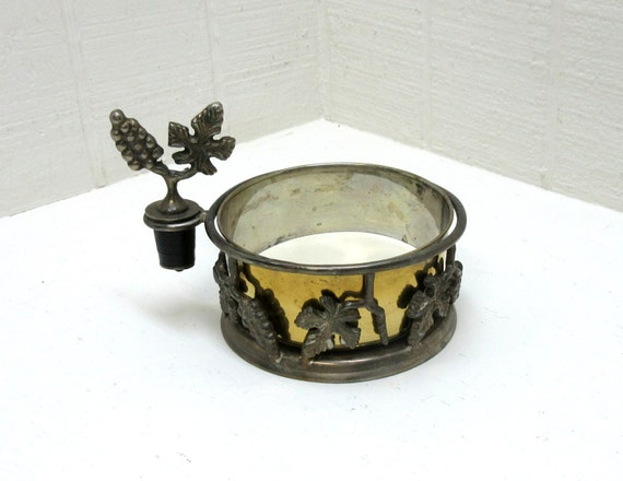 Vintage Wine Caddy & Wine Stopper Silver Plated International Silver Company