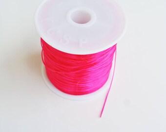 Stretch cord for bracelet, pink, 8 m, 0.5 mm