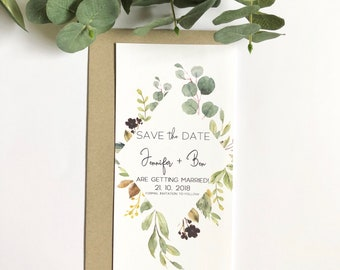 G R E E N E R Y | Save The Date Invitations | Printed Invitations | Getting Married | Weddings