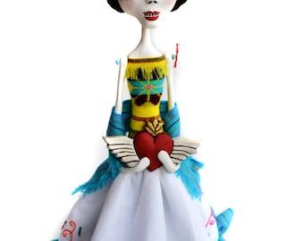 Frida Kahlo - Frida Art Doll - Frida Kahlo Doll - Catrina - Day of the Dead