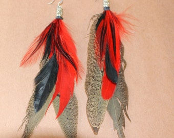 FEATHER Earrings -- Bird, Native American, Southwest - Style 10