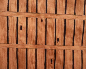 Print fabric of wood planks, knot holes,