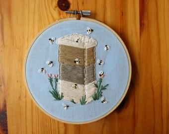 Beehive Hand Embroidery Hoop