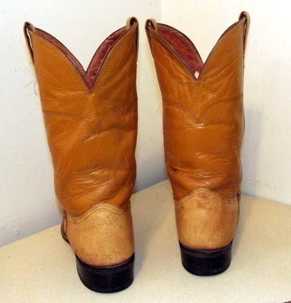 or 9 Yellow D cowgirls size 5 brand Boots 11 Cowboy Vintage Mustard Nocona size v5wqvZ0