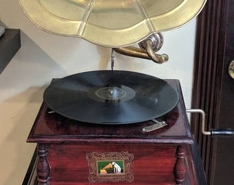 "Antique 1908 Vinyl Record 78 RPM Avalon Just Like Gypsy Medley Fox Trot Best Medley Ever One Step Paul Whitman 12"" RCA Victor No. 35701"