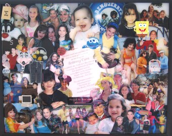 "Bat Mitzvah 3D Photo Collage by Collagery (18""x24"" shown)"