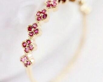 Scarlet Red Zircon 14k Rose Gold  & 14k gold Ring
