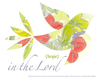 Paper Birds | Hope | Soar | Scripture Art | Day Lily | Nature | Watercolor | Sandy Thomson