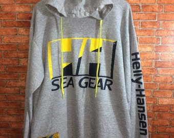 Vintage Hoodie Helly-Hansen Sea Gear 90s Spell Out Hip Hop Swag Size M