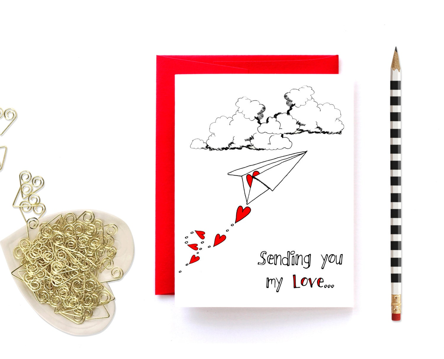 Long Distance Relationship Card Valentine Card Miss You