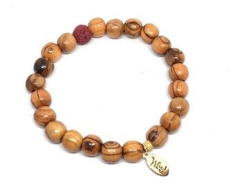 The Olive Oil bracelet - Red / Essential Oil Bracelet
