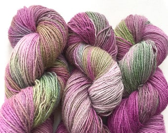Alpaca Dahlia Hand Dyed Sock Yarn 230M