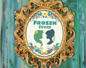 """Frozen Fever Elsa and Anna Birthday Sign 15.5x19"""" Printable Instant Download"""