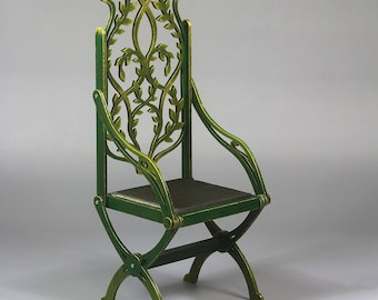 BJD Elven Throne Foldable Doll Armchair 1/3 SD 70+ Commission