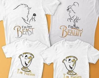 Match Family Shirt, Disney Matching Set, Disney matching, Beauty and The Beast family shirts, Disney shirts, Beauty and The Beast shirt