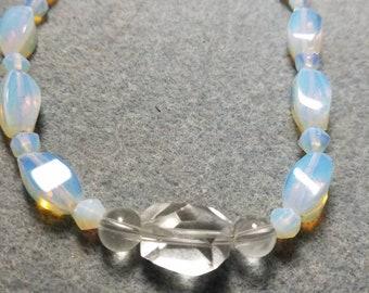 Opalite and Quartz Necklace