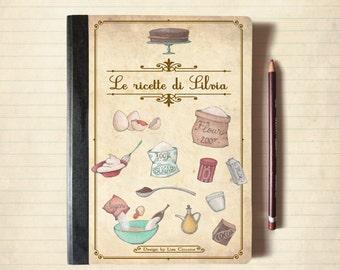 Kraft Notebook for recipes - original design, recipes, notes, customized with your name