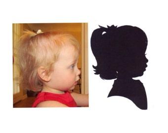 Medium 8 x 10 inch Hand Cut Silhouette Portrait