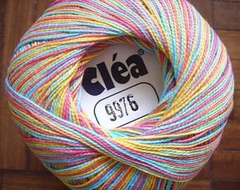 Variegated rainbow Size 10 crochet cotton thread knit Clea 1000 new- 1094 yds - Free ship - richipy