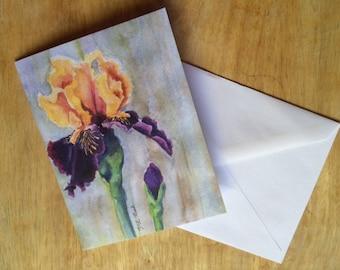 Iris Blank Notecard