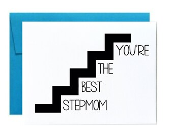 Funny stepmom - mothers day card. stepmom birthday card. you're the best stepmom. step mom card. little sloth card