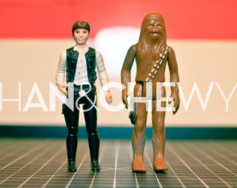 Reserved for Maebdee- Han & Chewy, Boba Fett and Lando - 1977 Star Wars Kenner Action Figures