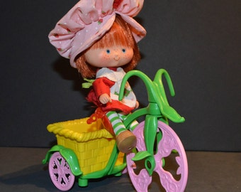 1980s Kenner Strawberry Shortcake Berry Cycle with Original Box