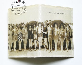 Passport Cover - going to the beach - vintage