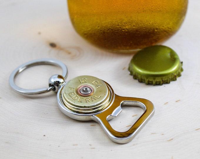 Featured listing image: Federal Shotgun Bullet Bottle Opener Keychain