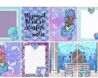 Mermaid Wishes//Over 200+ Planner Stickers//Glossy Paper//Perfect for ALL Planners//Kit and Deco