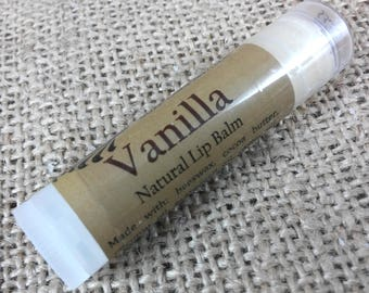 Vanilla Lip Balm - All Natural Lip Blam - Beeswax and Cocoa Butter