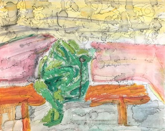 Acid Frog - original contemporary painting on canvas