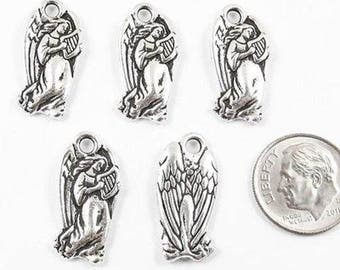TierraCast Pewter Charms-Silver Christmas Angel (5)