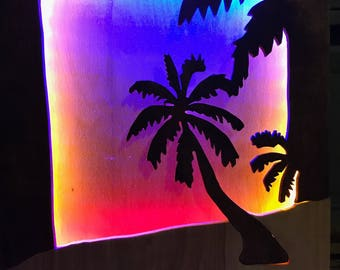 Sunset Beach Scene Light