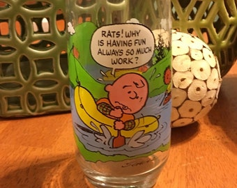 Peanuts Charlie Brown Lucy Snoopy Drink Glasses Woodstock Sally Franklin Schultz