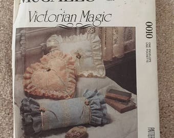 McCall's Sewing Pattern # 0010: Victorian Style Pillows, Frames, Accessories